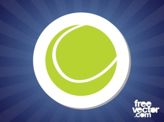 Tennis Ball Sticker Free Vector