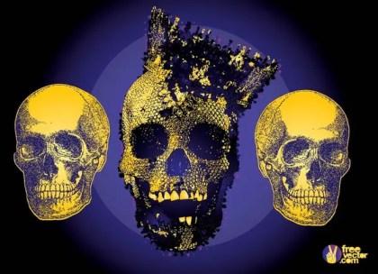 Terror Skulls Free Vector