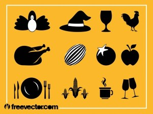 Thanksgiving Icons Free Vector