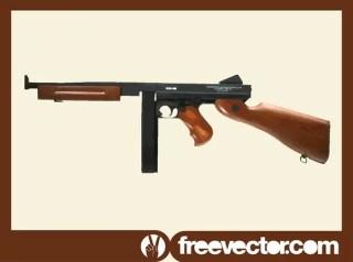 Thompson Submachine Gun Free Vector