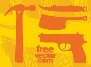 Tools and Weapons Free Vector