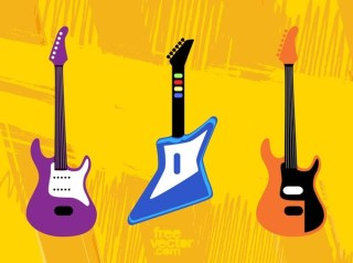 Toy Guitars Free Vector