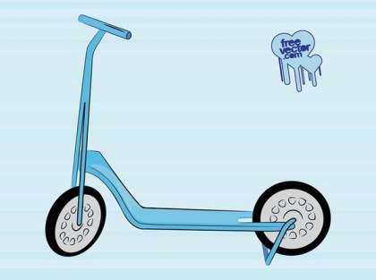 Toy Scooter Free Vector