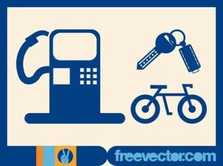 Transport Symbols Free Vector