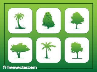 Tree Buttons Free Vector