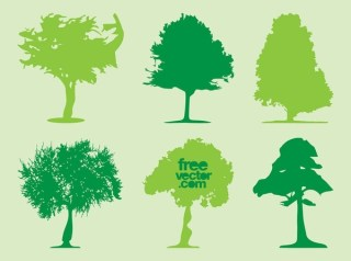 Trees Silhouettes s Free Vector