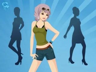 Trendy Girls Free Vector