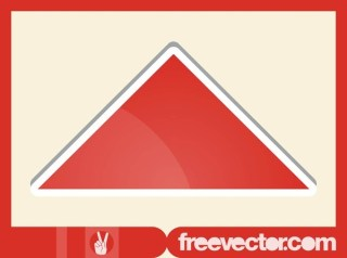 Triangle Sticker Free Vector