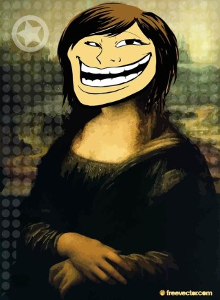 Troll Face Girl Free Vector