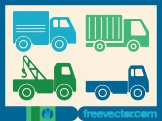 Trucks Icons Free Vector