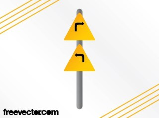 Turns Sign Free Vector