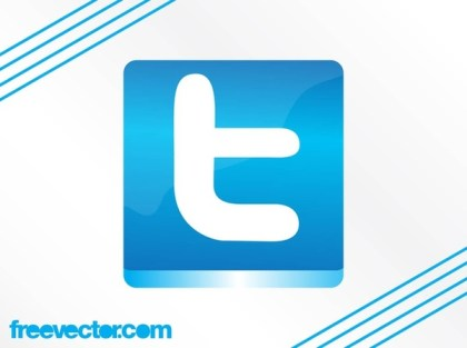 Twitter Button Free Vector