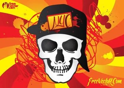 Urban Skull Free Vector