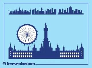 Urban Skylines Free Vector