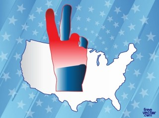 USA Victory Free Vector
