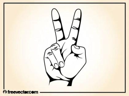 V Sign Free Vector