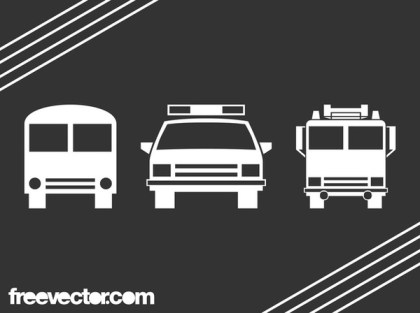 Vehicle Icons Free Vector