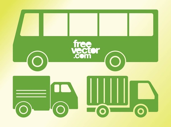 Vehicles Icons Free Vector