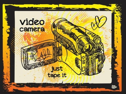 Video Camera Illustration Free Vector
