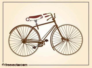 Vintage Bicycle Free Vector