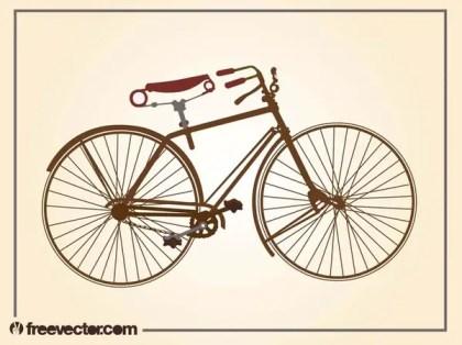 Vintage Bicycle Free Vector