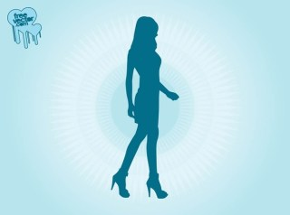 Walking Model Girl Free Vector