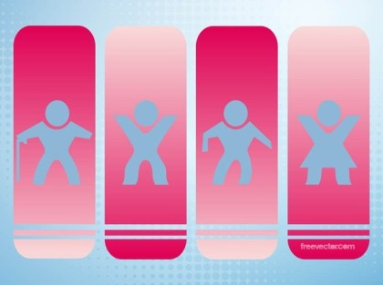 Walking People Icons Free Vector