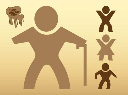 Walking People Silhouettes Free Vector