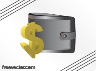 Wallet and Dollar Sign Free Vector