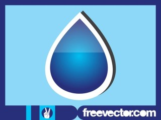 Water Drop Sticker Free Vector