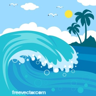Wave Free Vector