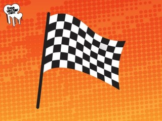 Waving Racing Flag Free Vector