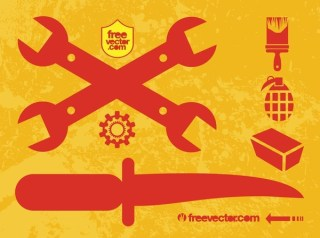 Weapons and Tools Free Vector