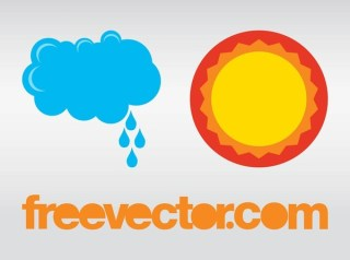 Weather Icons Free Vector