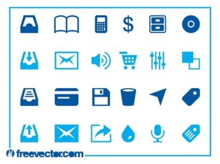 Web and Tech Icons Free Vector