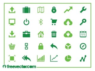 Web and Technology Icons Free Vector