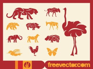 Wild Animals Free Vector