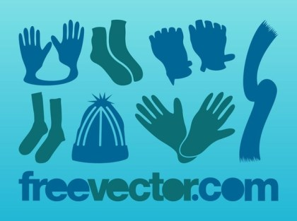 Winter Clothes s Free Vector