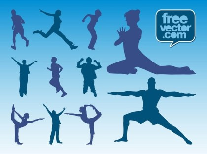 Workout Silhouettes Free Vector