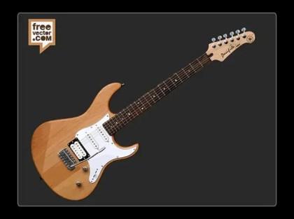 Yamaha Pacifica Electric Guitar Free Vector