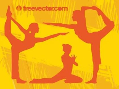 Yoga Girls Free Vector