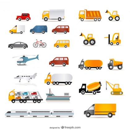 A Wide Range of Transport Free Vector