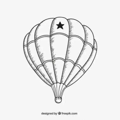 Air Balloon Sketch Free Vector