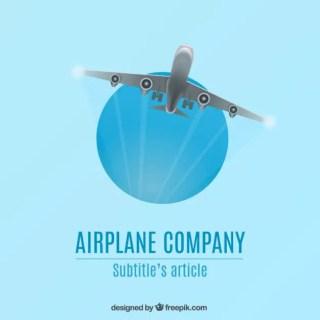 Airplane Company Logo Free Vector