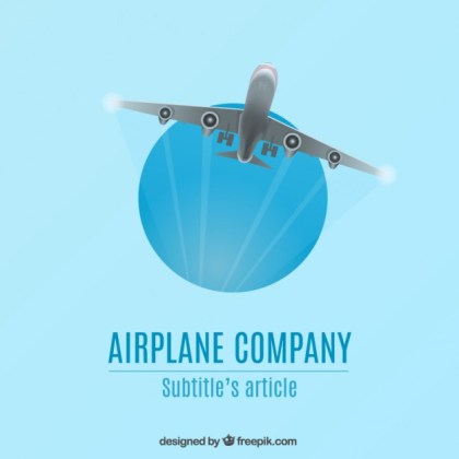 Airplane Company Logo Free Vector