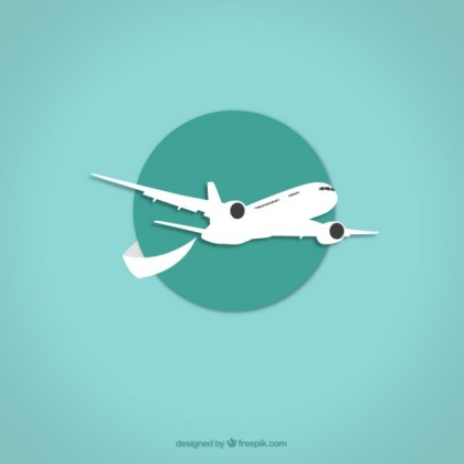 Airplane Icon Free Vector