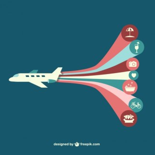 Airplane Infography Free Vector