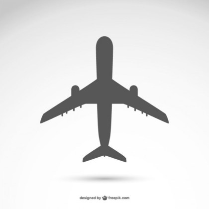 Airplane Silhouette Free Vector