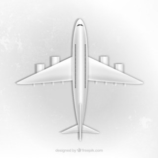 Airplane Top View Free Vector