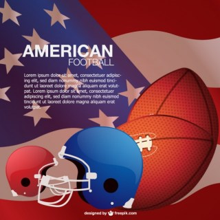 American Football Background Free Vector
